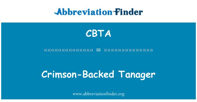 CBTA: Crimson-Backed Tanager
