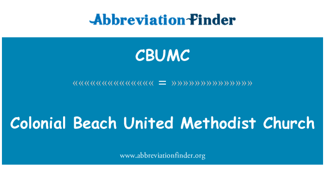 CBUMC: Colonial Beach United Methodist Church