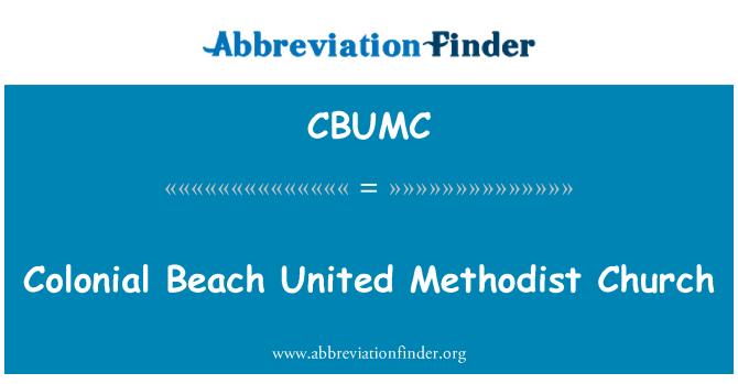 CBUMC: Colonial Beach United Methodist Church