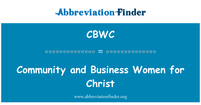 CBWC: Community and Business Women for Christ