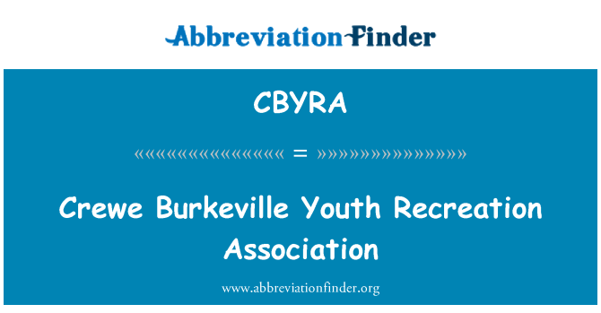 CBYRA: Crewe Burkeville Youth Recreation Association