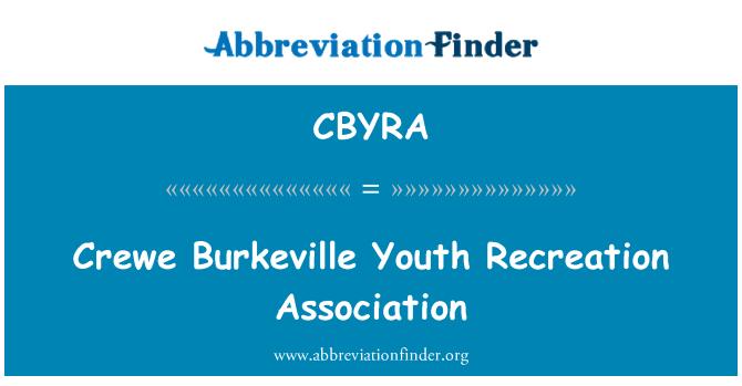 CBYRA: Crewe Burkeville za mlade rekreacija udruga