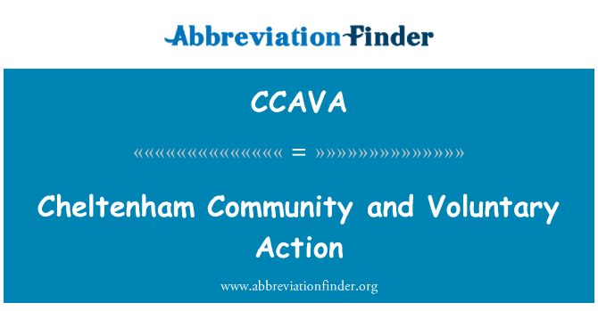 CCAVA: Cheltenham Community and Voluntary Action