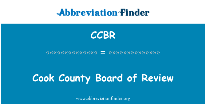 CCBR: Cook County Board of Review