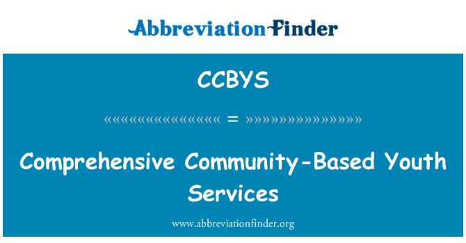 CCBYS: Služby komplexní komunity mládeže