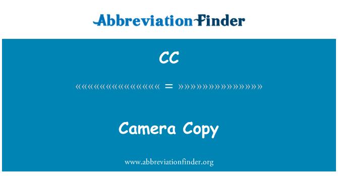 CC: Camera Copy