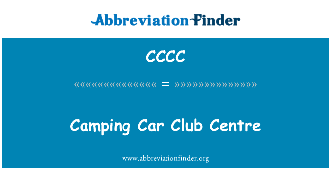 CCCC: Camping Car Club Centre