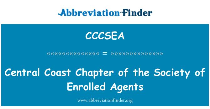 CCCSEA: Central Coast poglavlje društva upisanih agenti