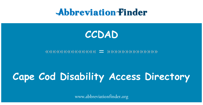 CCDAD: Cape Cod Disability Access Directory