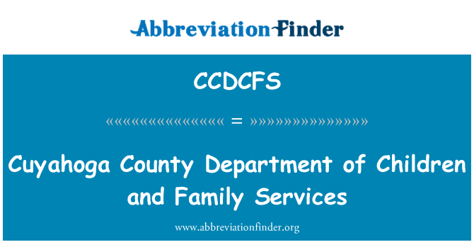 CCDCFS: Cuyahoga County Department of Children and Family Services