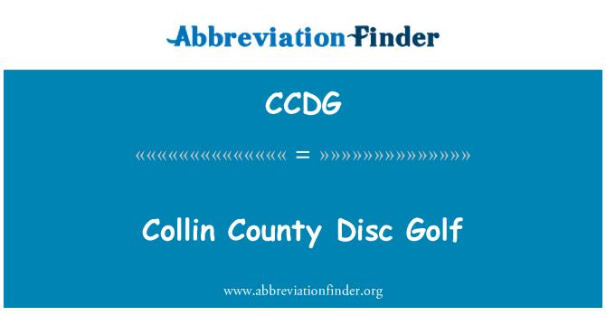 CCDG: Collin County Disc Golf