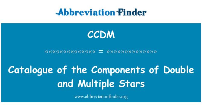 CCDM: Standard ja mitu tähte komponentide kataloog