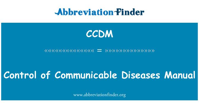 CCDM: 传染性疾病手册的控制