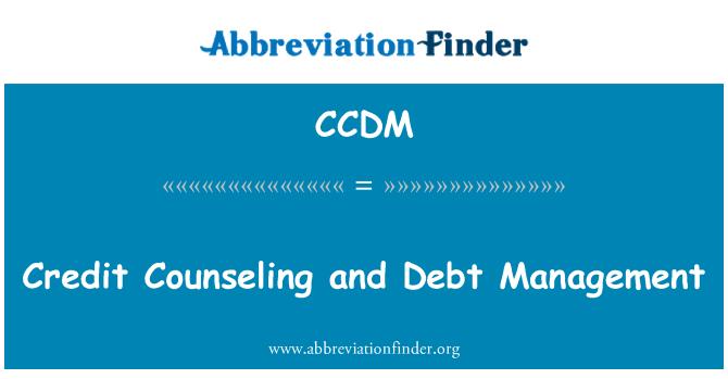 CCDM: Kredit kaunseling dan pengurusan hutang