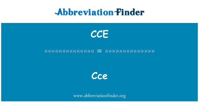 CCE: Cce