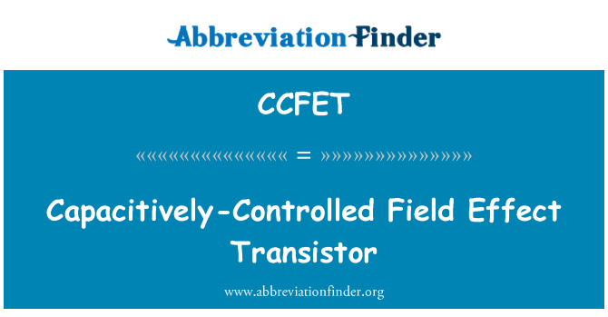 CCFET: Capacitively-Controlled Field Effect Transistor