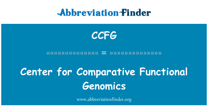 CCFG: Center for Comparative Functional Genomics