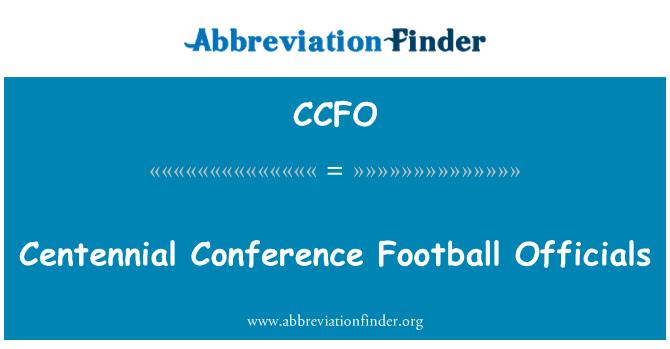 CCFO: Centennial konverentsi jalgpalli ametnikud