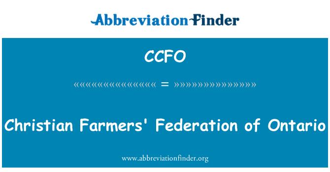 CCFO: Ontario, Christian Farmers Federasyonu