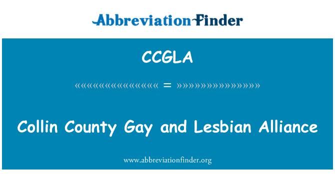 CCGLA: Collin County Gay and Lesbian Alliance