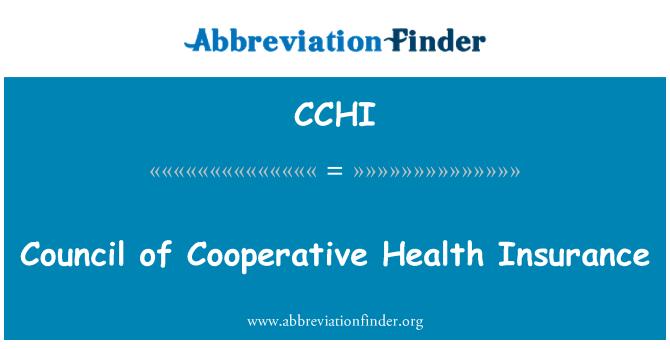 CCHI: Consejo de cooperación del seguro de salud