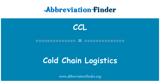 CCL: 冷链物流