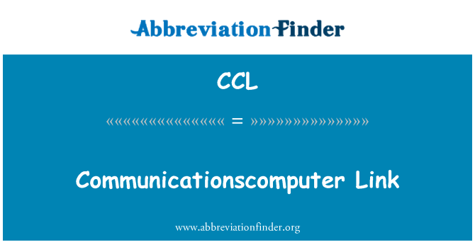 CCL: Pautan Communicationscomputer