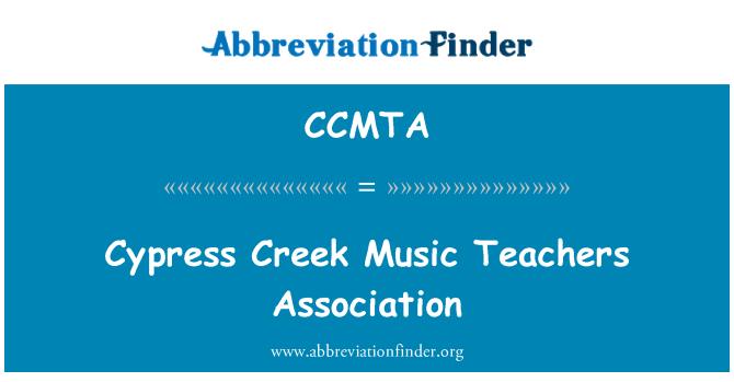 CCMTA: Cypress Creek Music Teachers Association