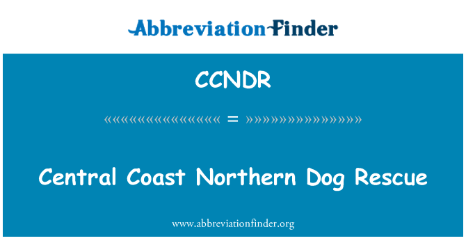 CCNDR: Central Coast Northern Dog Rescue