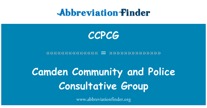 CCPCG: Camden Community and Police Consultative Group