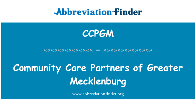 CCPGM: Community Care Partners of Greater Mecklenburg