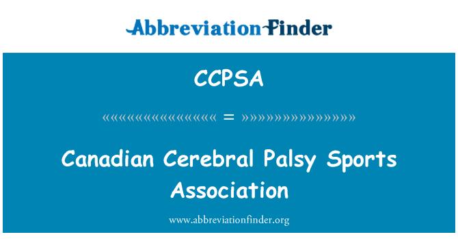 CCPSA: Canadian Cerebral Palsy Sports Association