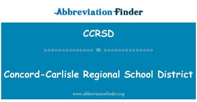 CCRSD: Concord-Carlisle Regional School District