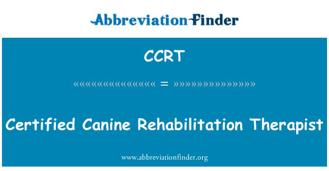 CCRT: Certificado a terapeuta de rehabilitación canina
