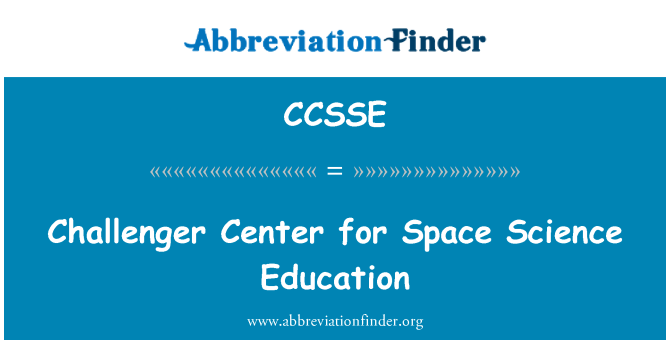 CCSSE: Challenger Center for Space Science Education