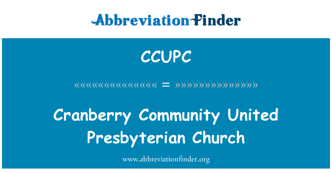 CCUPC: Cranberry Community United Presbyterian Church
