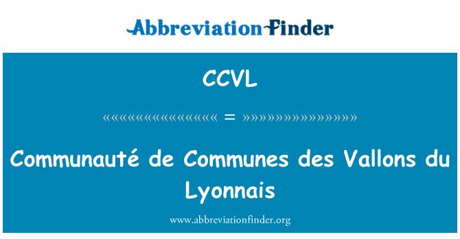 CCVL: Communauté de Communes des Vallons du Lyonnais