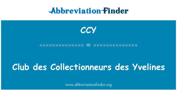 CCY: Club des Collectionneurs des Yvelines