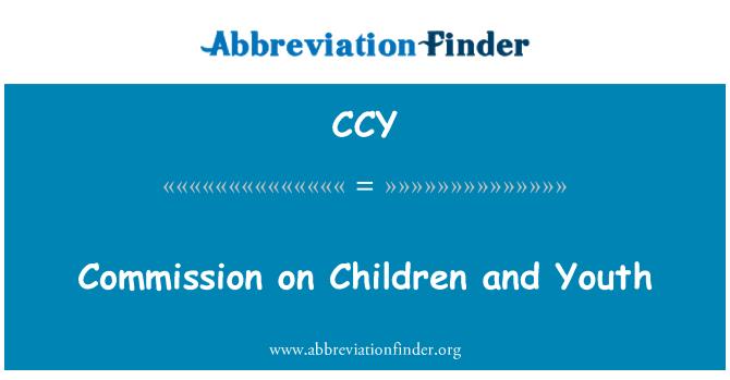 CCY: Comisión de niños y jóvenes