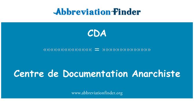 CDA: Centrum de dokumentation Anarchiste