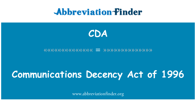 CDA: Slušnosť Communications Act z roku 1996