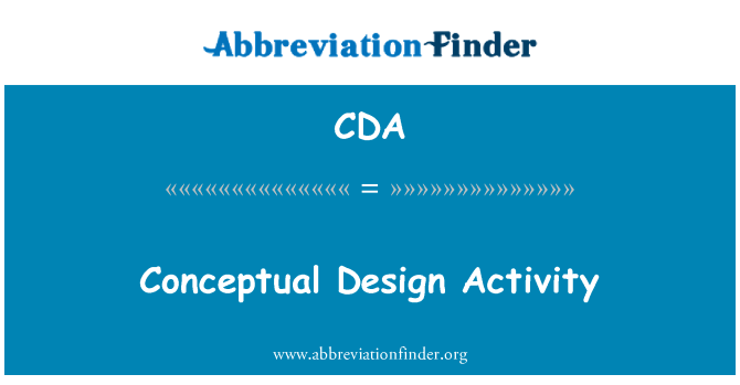 CDA: Konstruktions aktivitet