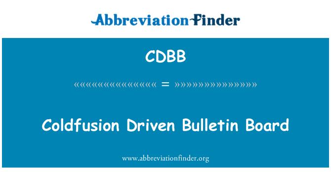 CDBB: Coldfusion Driven Bulletin Board