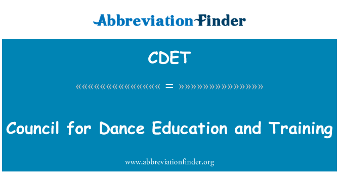 CDET: Council for Dance Education and Training