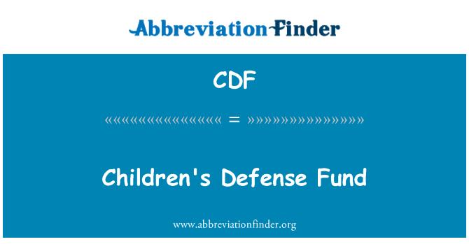 Acrónimo cdf finanzas