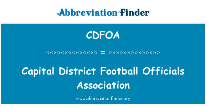 CDFOA: Capital District Football Officials Association