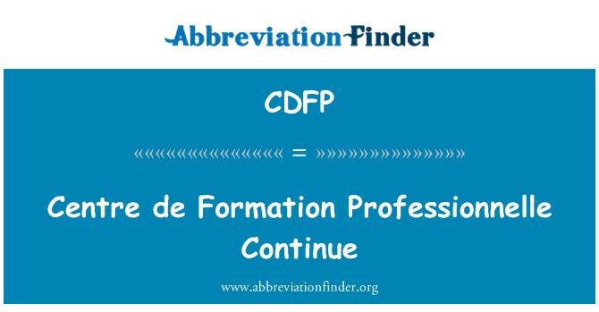 CDFP: Centro de formación profesional siguen