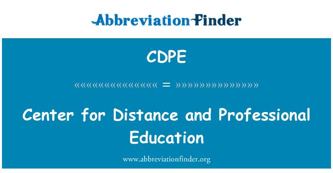 CDPE: Centro para la distancia y la formación profesional