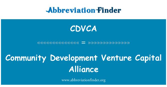 CDVCA: Community Development Venture Capital Alliance