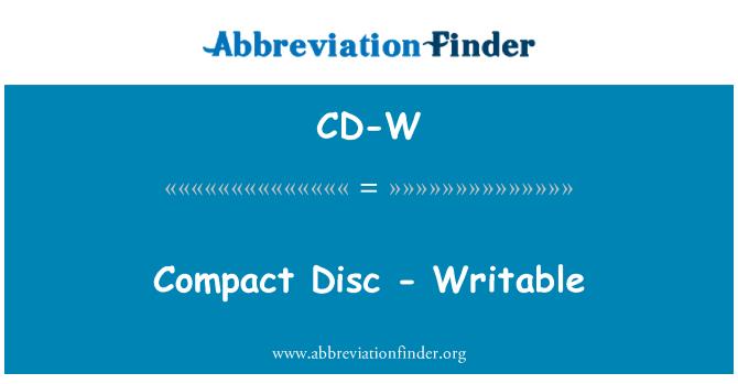 CD-W: مکتنز قرص - قابل تحریر